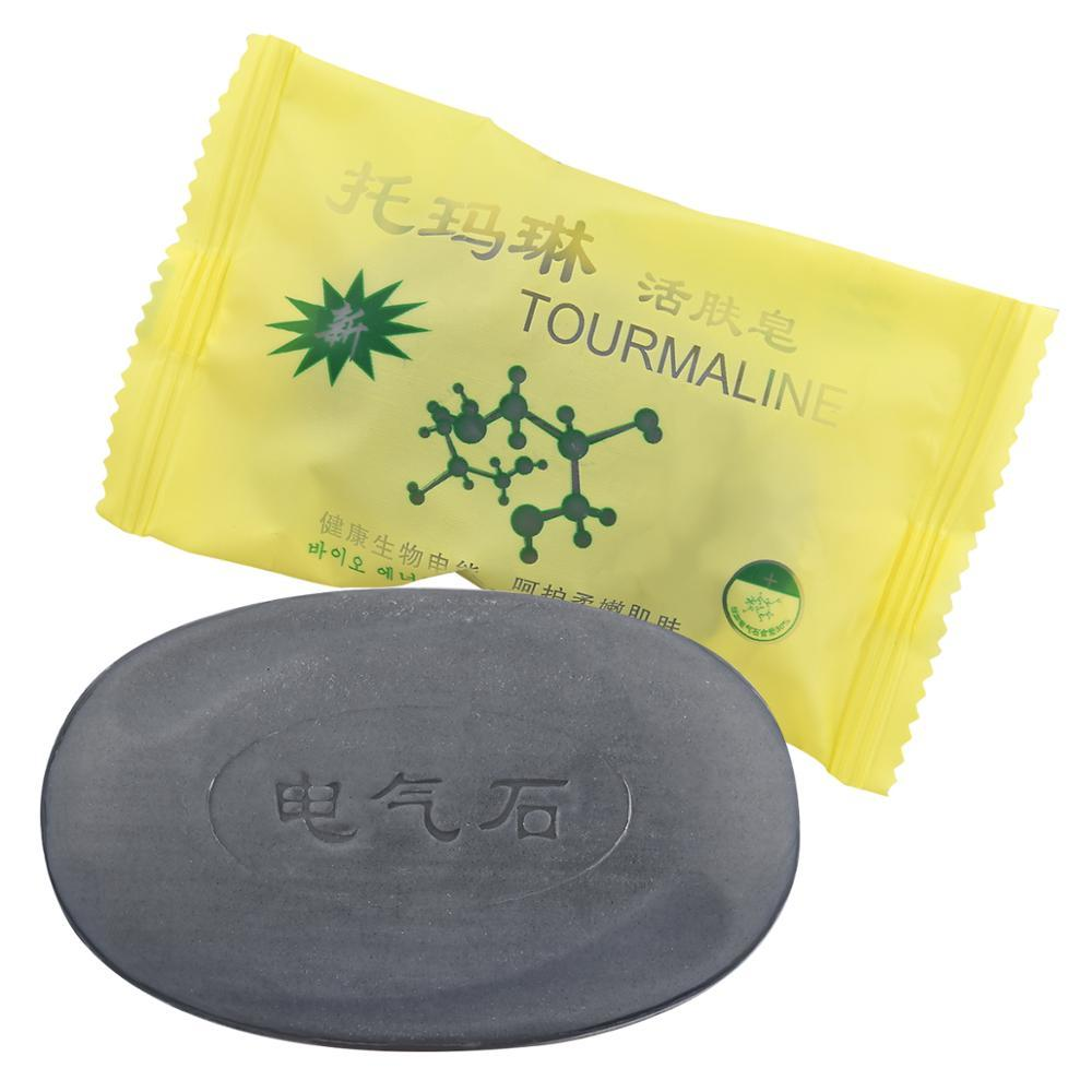 Active Energy Tourmaline Bamboo SoapCleaner Removal Pimple Pores Acne Treatment Goat Milk Moisturizing Face Care Wash Basis Soap