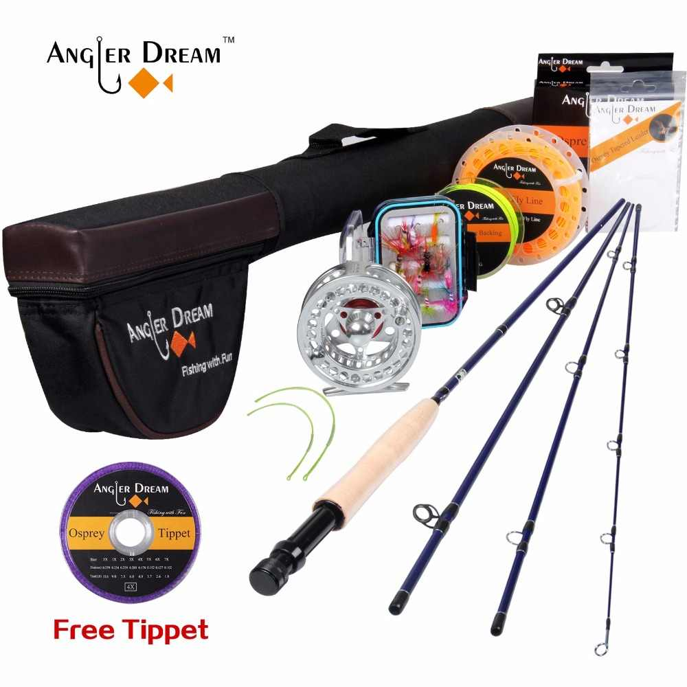 Fly Fishing Kits 2.7M 9FT Fly Fishing Rods 5/6 WT CNC-machined Aluminum Fly Reel with Fishing Lures and Lines Rod Combo