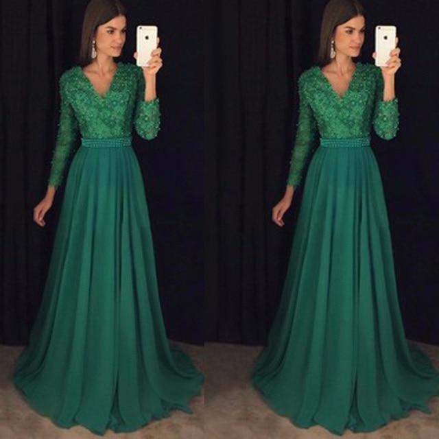 Vestidos Verdes Largos Vestidos De Punto 2019