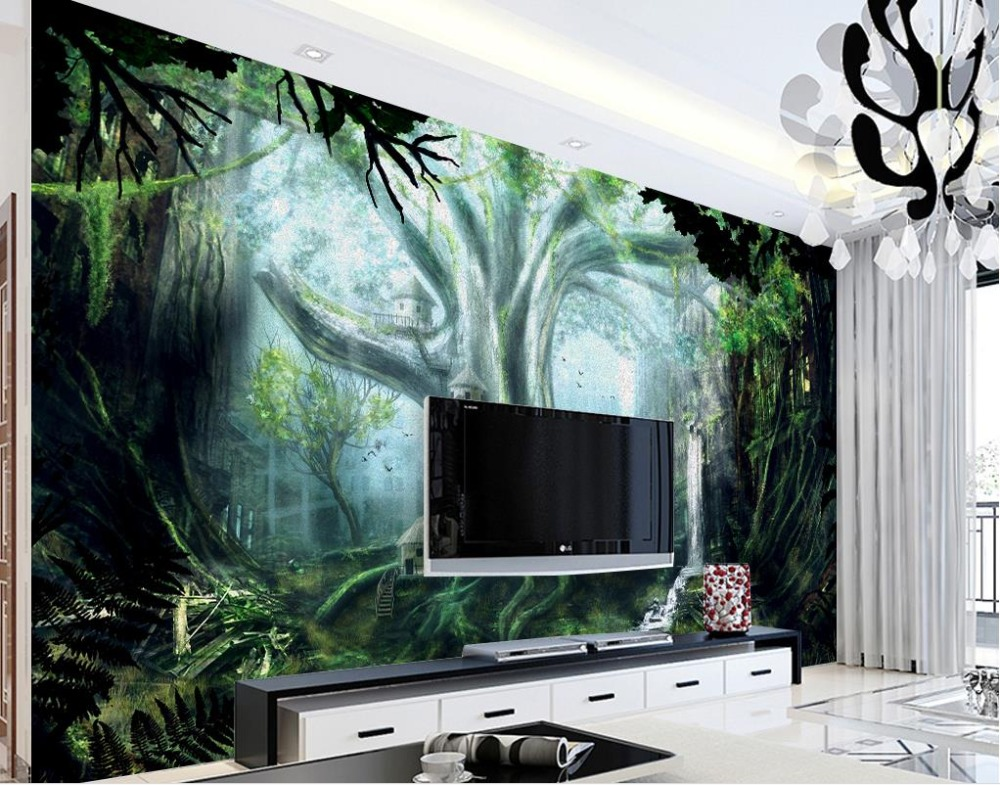 Wallpapers Painting Supplies & Wall Treatments Devoted Beibehang Modern Home Tv Background Wall Wallpaper Hd Sea View Beach Landscape Painting Wallpaper For Living Room Papel Parede