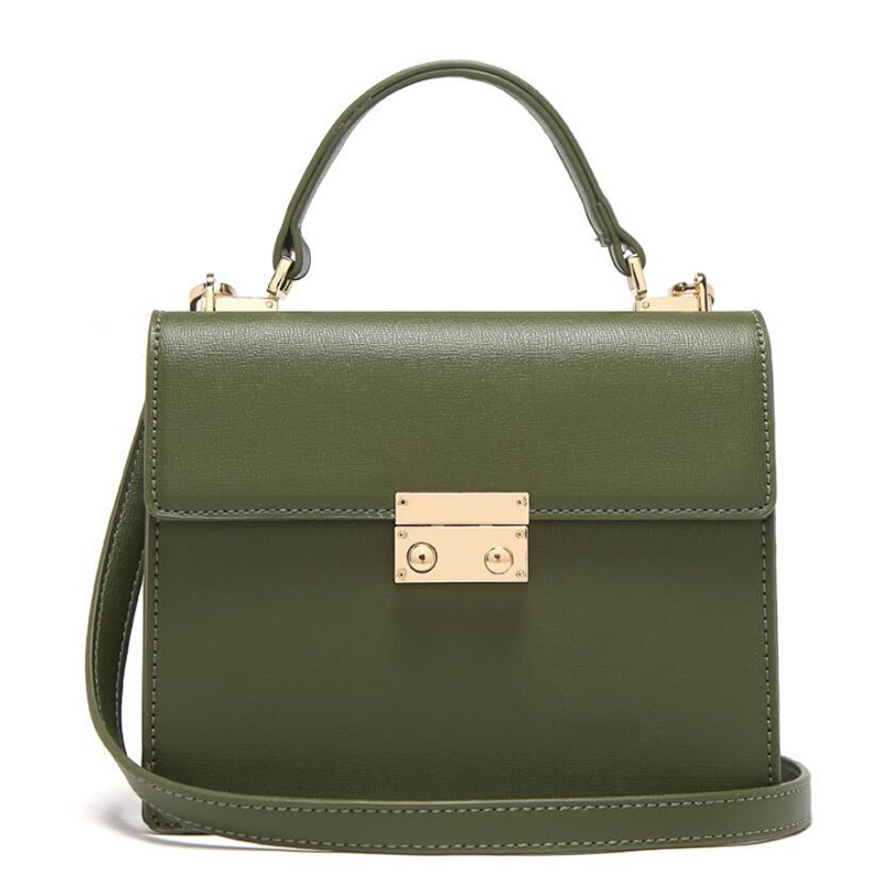 Micocah Female Shoulder Bags Women Bag Messenger Fashion Handbags Pu Material Double Compartment Organ Lock A4259 In Top Handle From