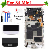 Super AMOLED HD LCD Display Touch Screen Digitizer With Frame Assembly For Samsung Galaxy S4 Mini