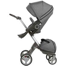 2018 New Baby stroller for children European standard V4 V6 high landscape baby carriages 2 in 1 pram