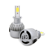 2pcs Lot Car LED Headlight C6 COB Auto Headlamp H3 30w 3800LM 8 48v DC High
