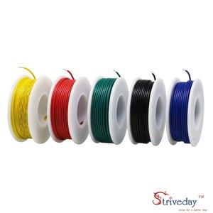 Image 3 - Boîte de Kit de fils électriques à crochet, 20, 22, 24, 26 AWG, PVC, boîte de fils électriques, calibre 20 26, câbles 1007 V, 300 pieds, couleur