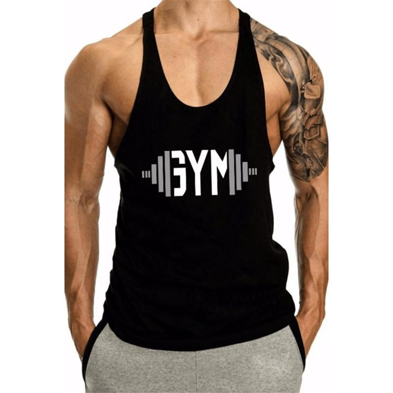 2018 Summer new Brand clothing Fitness   Tank     Top   Men Stringer Golds Bodybuilding Muscle Shirt Workout Vest gyms Undershirt