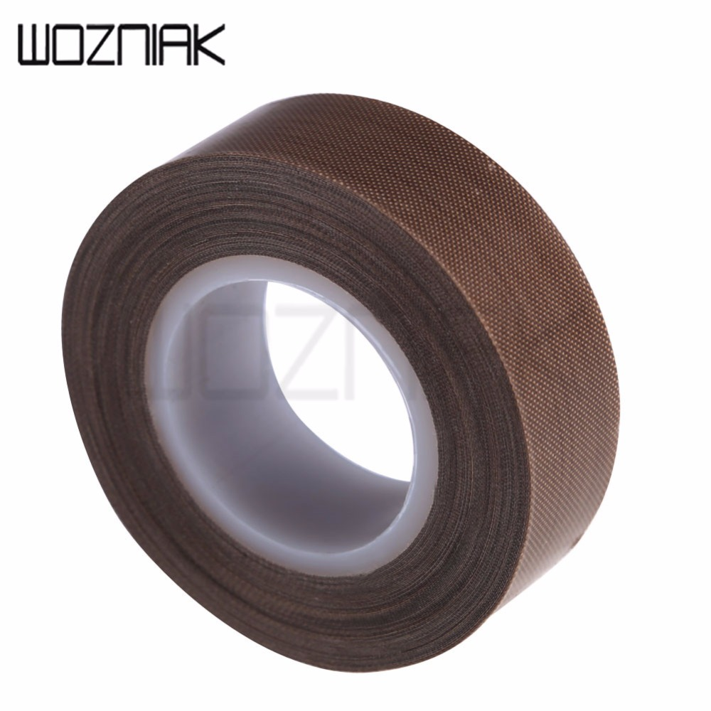 PTFE Coated Fiberglass Fabric With Silicone Adhesive Tape 10M Smooth Anti-stick Adhesive Tape High Temperature Resistance
