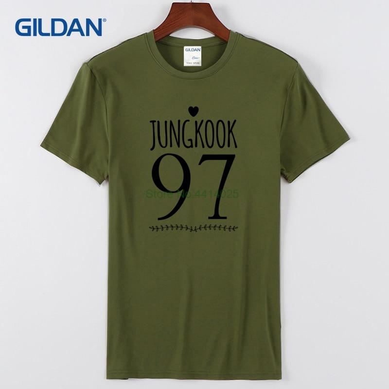24086353f Branded T Shirts Online Shopping 2018 Bts Jungkook 97 Love Design Plain  Black Tee Shirt Clothing Graphic T Shirt-in T-Shirts from Men s Clothing on  ...