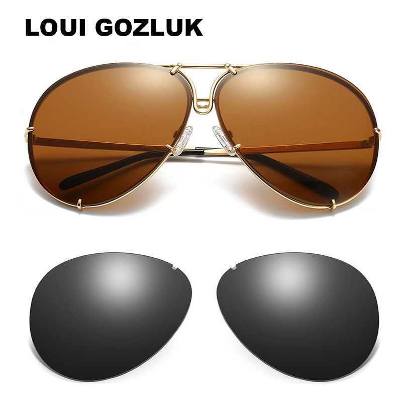 Hot Sell Fashion 2020 interchangeable sunglasses women Tinted Trendy Sun Glasses Men Replaceable Lens Glasses Gozluk tmall
