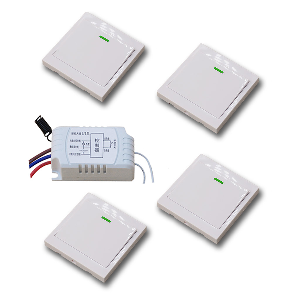 Smart Home Manual With Wireless Remote Control Switch AC220V Relay Receiver + Transmitter For LED Light Lamp 315Mhz/433.92MHZ new design wireless ac220v remote control switch with manual button receiver for smart home 315 433mhz free shipping