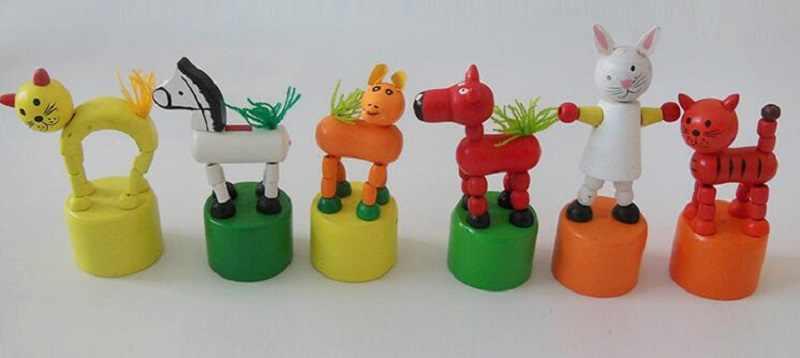 يطير ac القرد الخشبي هريرة جرو الحيوانات مقعد دلو سوينغ الكرتون اللعب للطفل هدية عيد 6 قطعة/المجموعة