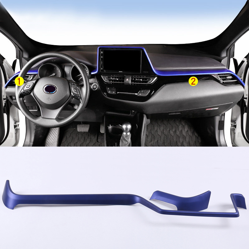 Car Auto Accessories Interior Upper Center Dashboard Console Air Vent Outlet Cover Trim For Toyota C-HR CHR 2016 2017 2018 2019