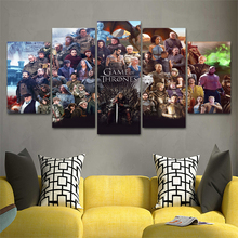 Movie HD Print Wall Art Canvas 5 Piece Painting For Room Modern Decorative Game Of Thrones Picture Poster