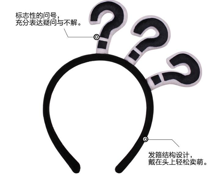 New black Punctuation Hairbands Question Exclamation Mark Arrow Adults Party Dress Hair Decoration Headwear