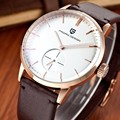 Мода Повседневная мужские Часы Мужчины Водонепроницаемый 30 м Натуральная Кожа Простой Кварцевые Часы Luxury Brand PAGANI DESIGN Relógio Masculino