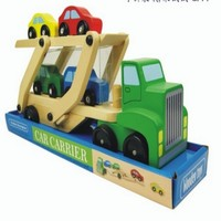 Perfekte qualität baby holz toys autotransporter lkw gute gifr für baby kids abnehmbare früherziehung