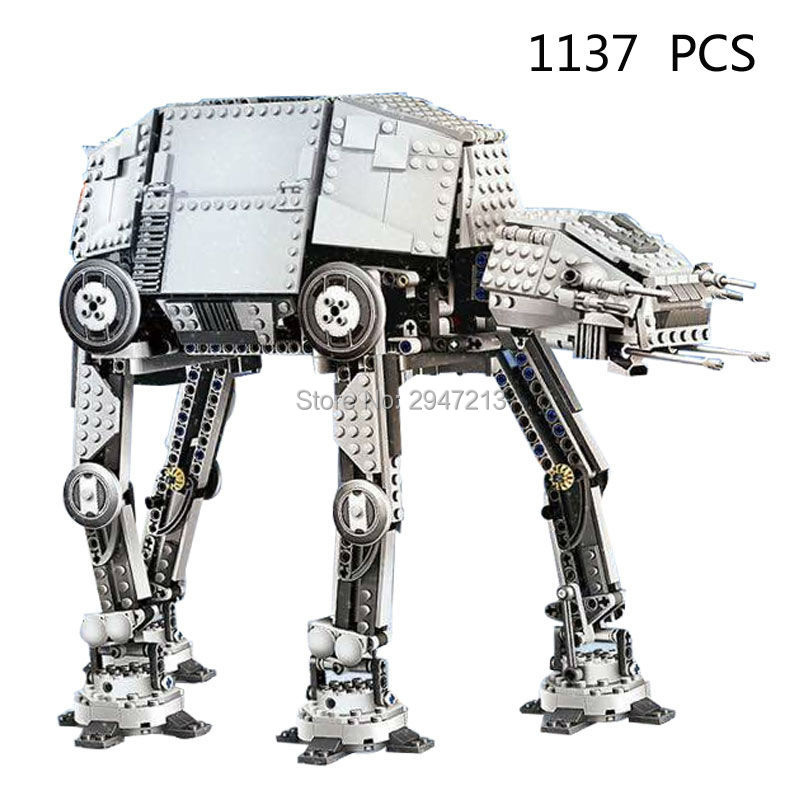 2017 hot new lepin compatible LegoINGlys Star Wars Motorized Walking AT-AT model robot building blocks Toys for children gift lepin 22001 pirate ship imperial warships model building block briks toys gift 1717pcs compatible legoed 10210