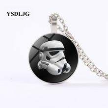 GDRGYB Star Wars Necklace - Stormtrooper Helmet Mask - Empire Dark Force  Robot Helmet  Chain Pendant мото шлем icon alliance dark helmet matte