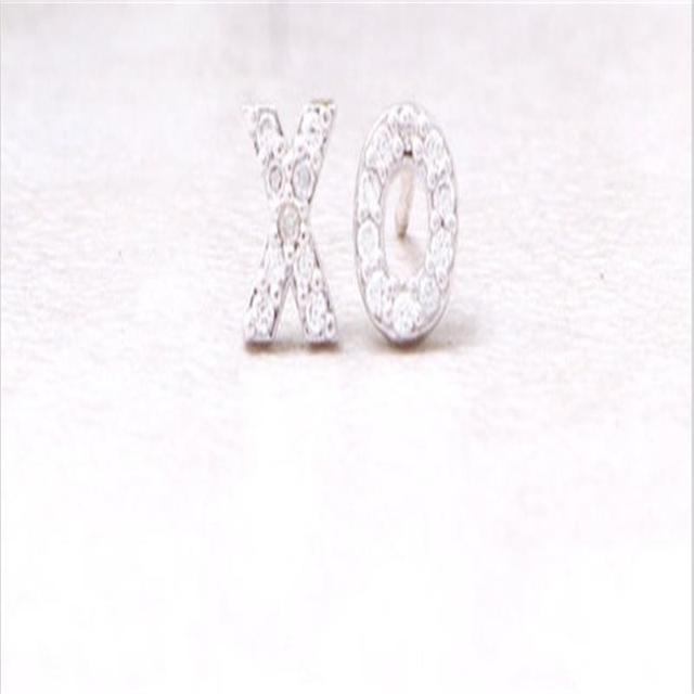 Fashion Earrings Gold Silver Rose Gold XO studs Earrings Wholesale