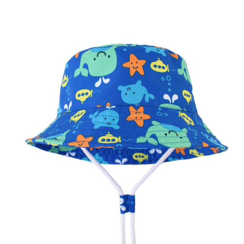 New Summer Panama Autumn Baby Boys Sun Hats with Neck Protection Kids Cartoon Bucket Beach Hat Children 39 s Swimming Hat 1 7 in Hats amp Caps from Mother amp Kids