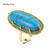 Antique Jewelry Long Ring for Women Fashion Emerald Band Ring Gold/Black Gun Color Available