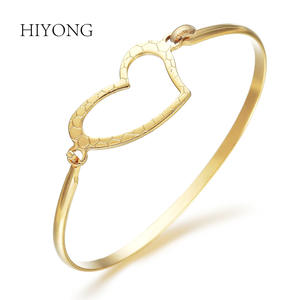 Bangle Gold Bracelet Jewelry-Accessories Cuff Girl Fashion Women Lady New Top Heart