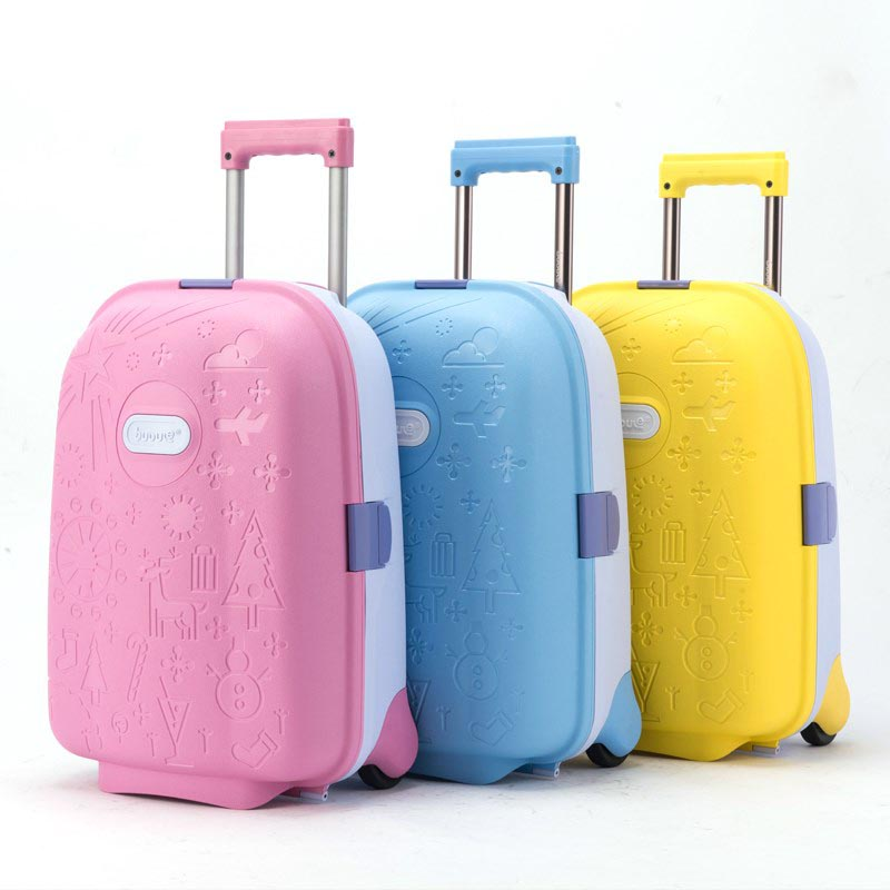 LeTrend High Quality Cute Cartoon Children Rolling Luggage Suitcase Wheels Students 18 Inch Carry On Trolley Kids Travel Bag