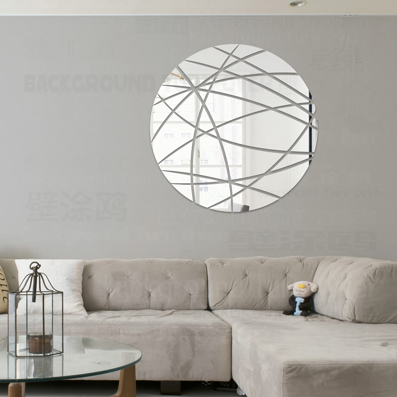 Creative Modern Round Decorative 3D Acrylic Mirror Wall ...