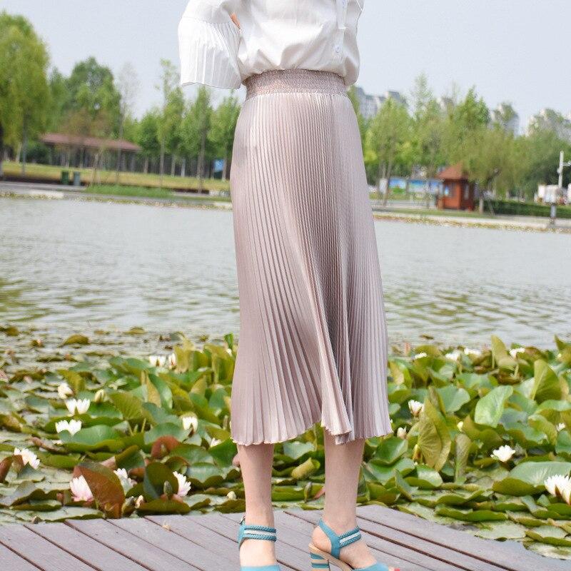 2017 Verë e Re Stretch Moda e Re Bright Pleated Women Gratë Një - Veshje për femra - Foto 5