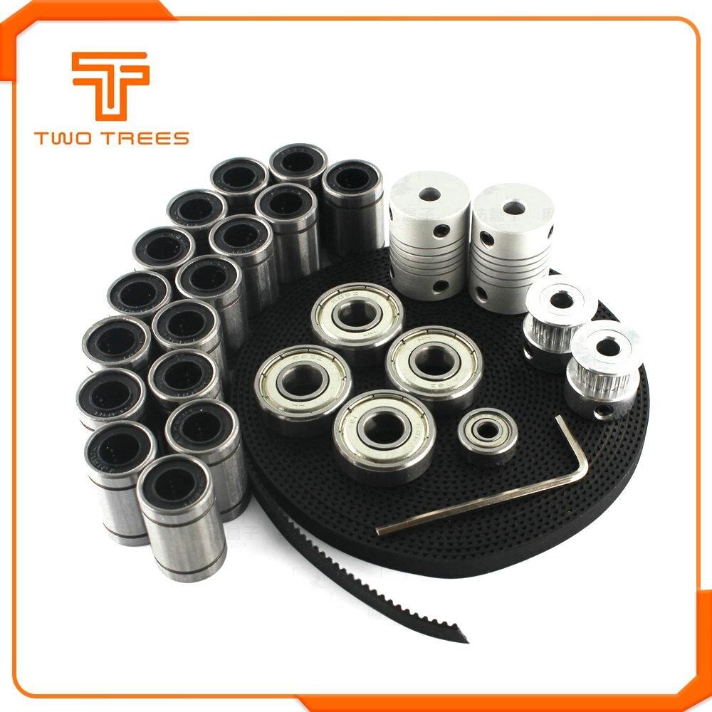 3D Printer Parts Reprap I3 Movement Kit GT2 6mm Belt Pulley 608zz Bearing Lm8uu 624zz Bearing 5x8 Coupling For I3 3D Printer