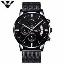 Nibosi Для мужчин Часы известный Элитный бренд кварцевые Военное дело спортивные часы Для Мужчин's Наручные часы Миланский сетчатый ремешок Оптовая цена завода