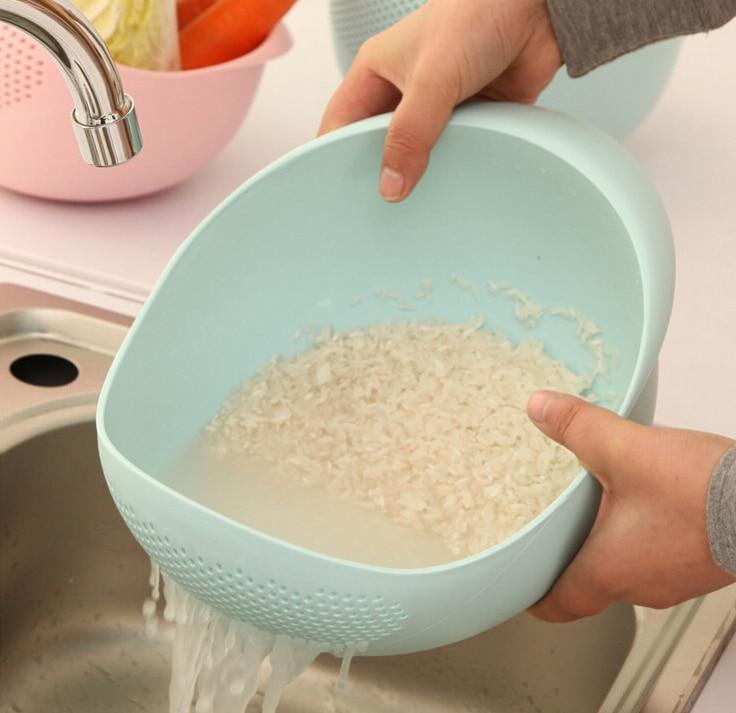 Tamiz de Arroz lavado de Las Mercancías de Cocina Herramientas de Cocina Cesta D