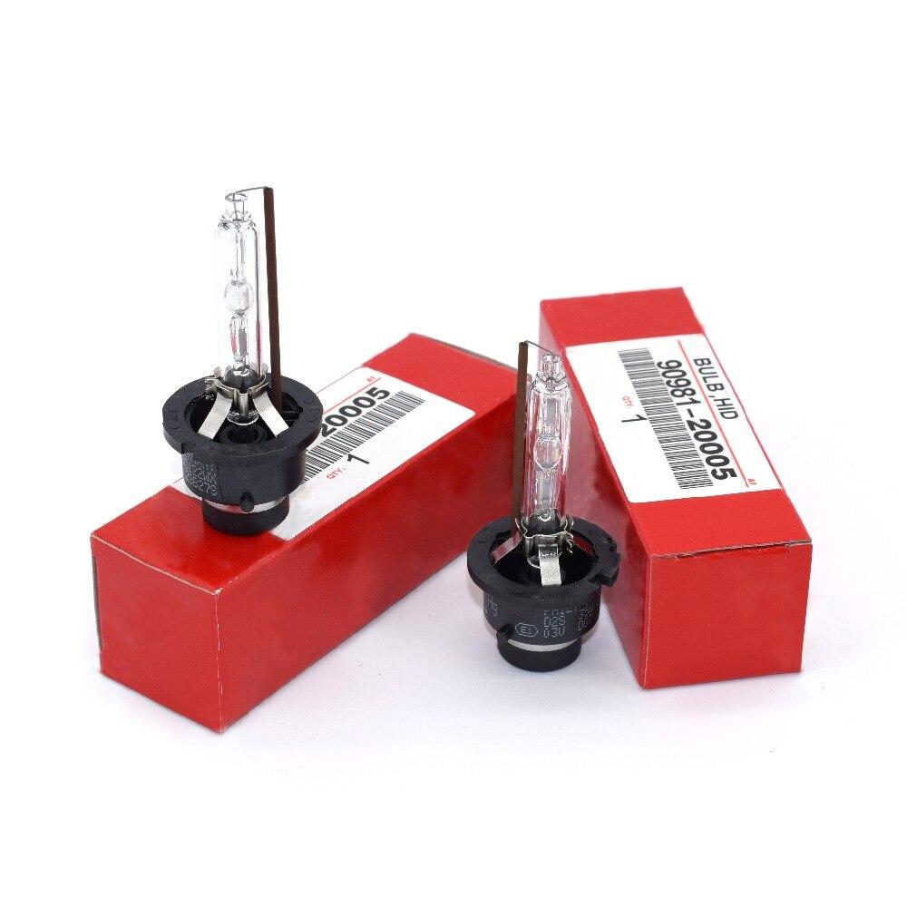 ANZULWANG 2pcs Xenon Bulb D2S D2R D4S D4R For Toyota 90981-20005 90981-20008 90981-20013 90981-20029 4300K 6000K 35W 12V