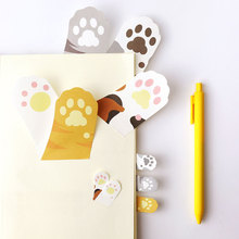 1X cute Cat feet weekly plan Sticky Notes Post It Memo Pad kawaii stationery School Supplies Planner Stickers Paper Bookmarks 2pcs lot kawaii british style memo pad weekly plan sticky notes post stationery school supplies planner paper stickers