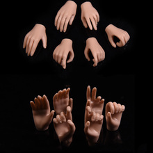 1/6 Scale Woman Hand Model Claw Long Nails for 12 Male Action Figure Body 3 PAIRS New