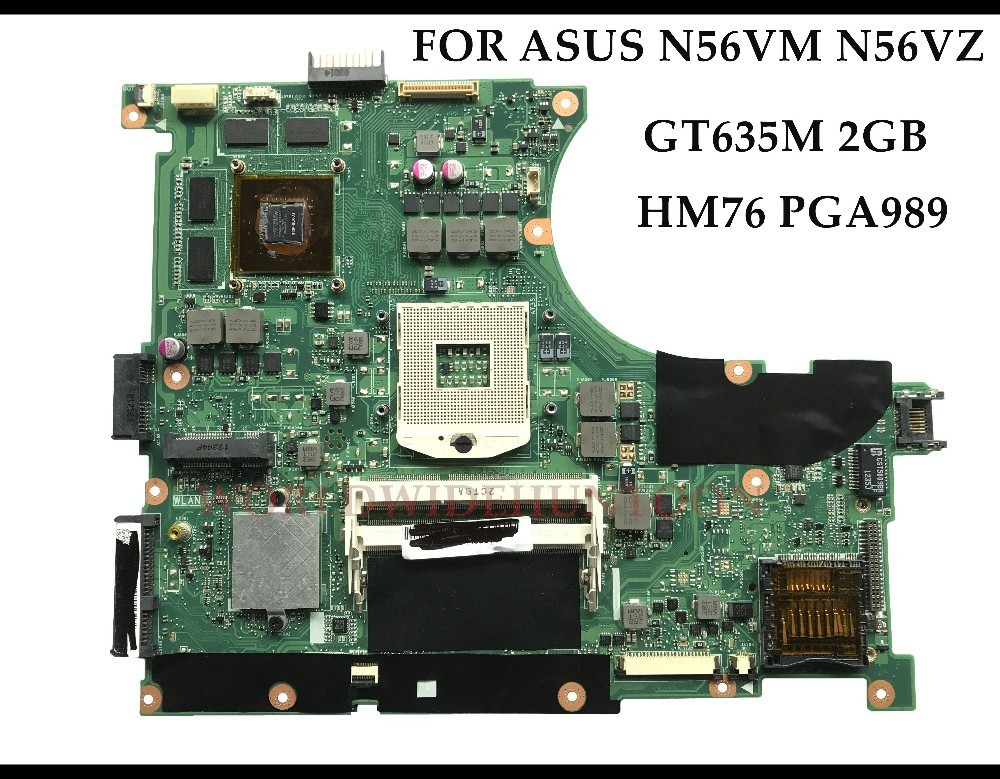 High quality for ASUS N56VM N56VZ Laptop mainboard REV2 3 HM76 PGA989 DDR3 GT635M 2GB 100