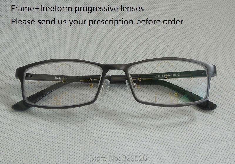 Multi focal backside freeform progressive lenses+aluminum ...