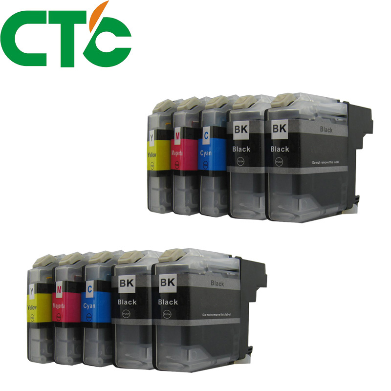 10 PCS LC 123 Ink Cartridge Compatible for Brother MFC-J4510DW MFC-J4610DW MFC-J4410DW J4710DW MFC-J6920DW J6720DW J6520DW