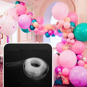 New 5m Length Balloon Plastic Chain Balloons Connector Accessories Birthday Party Decoration Supplies