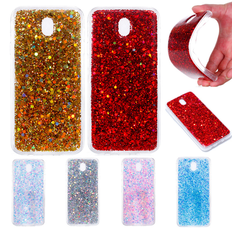 For Samsung J7 2017 J730 Case Colored Shiny Glitter Silicon TPU Skin Soft Back Cover Phone Case for Samsung Galaxy J7 2017 J730F