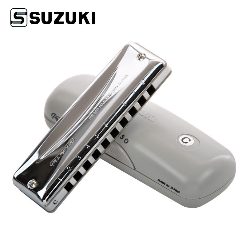 Сузуки MR-350 Promaster Deluxe 10-дупка диатонична хармоника / блус арфа професионална хармоника, ключ за C [Безплатна доставка]