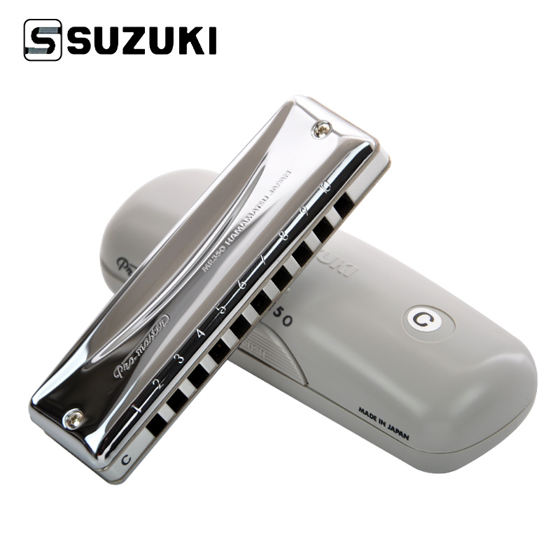 Suzuki MR-350 Promaster Deluxe 10-Hole Diatonic Harmonica / Blues Harp Profesional Harmonica, Cheia C [Transport gratuit]