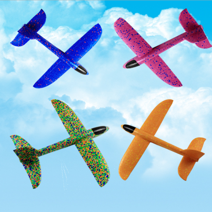 48cm*48cm DIY Hand Throw Flying Glider Planes Toys For Children Foam Airplane Model Flying Glider Plane Toys Game