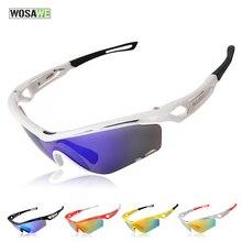 WOSAWE Polarized Cycling Eyewear Sports Sun Glasses UV400 Bicycle Glasses Bike Sunglasses Myopia Frame PC TR90 Goggles 3 Lens
