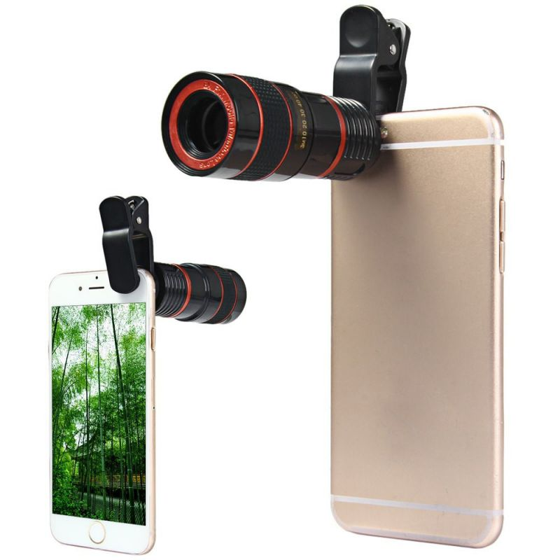 Zoom 8X Clip-on Telescope Camera Optical Lens For Various Cell Phone for iPhone 6 For Samsung Smart Phone Telescope