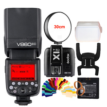 Godox Ving V860II V860II-C E-TTL HSS 1/8000 Li-ion Bateria de Flash Speedlite para Canon DSLR + Kit Presente