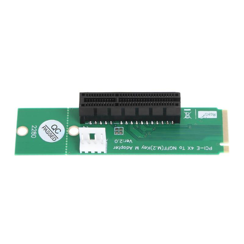 NGFF M.2 to <font><b>PCI</b></font>-e 4X Slot Riser Card M Key M.2 <font><b>SSD</b></font> Port to <font><b>PCI</b></font> <font><b>Express</b></font> Adapter Converter for <font><b>PCI</b></font>-E <font><b>X1</b></font> to X4 m.2 riser card image