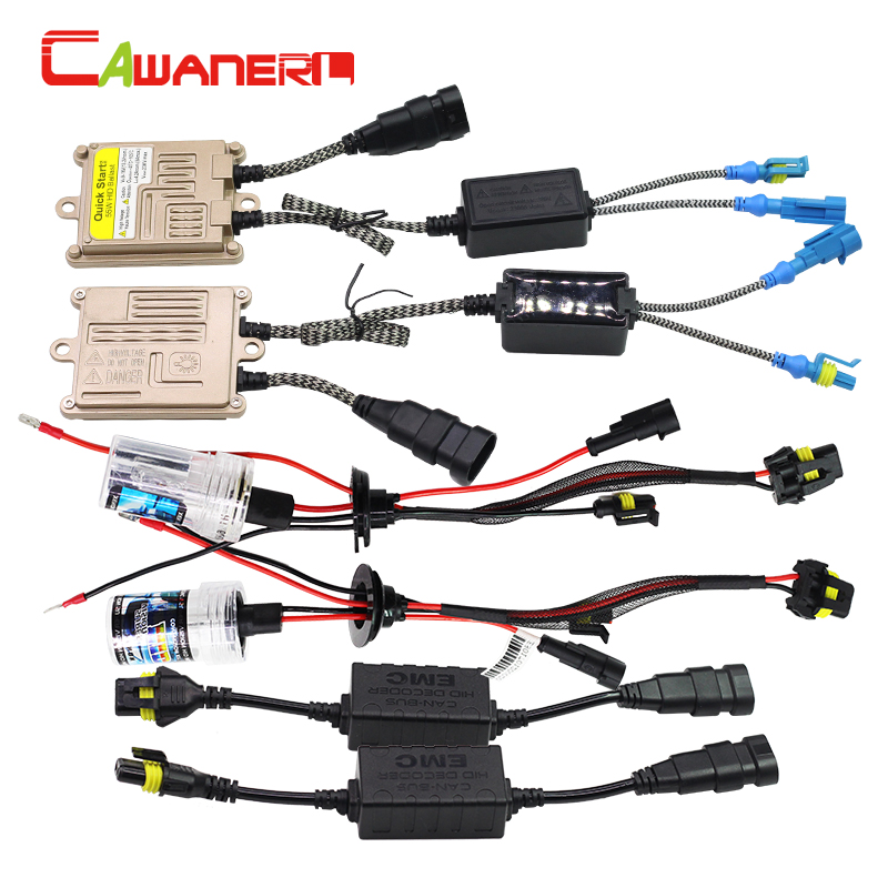 Cawanerl 55W H3 Car Light Headlight Canbus HID Xenon Kit 3000K-12000K Auto AC Ballast Lamp Decoder Harness Anti Flicker No Error buildreamen2 9006 hb4 55w no error hid xenon kit 3000k 8000k ac ballast bulb canbus decoder anti flicker car headlight fog light