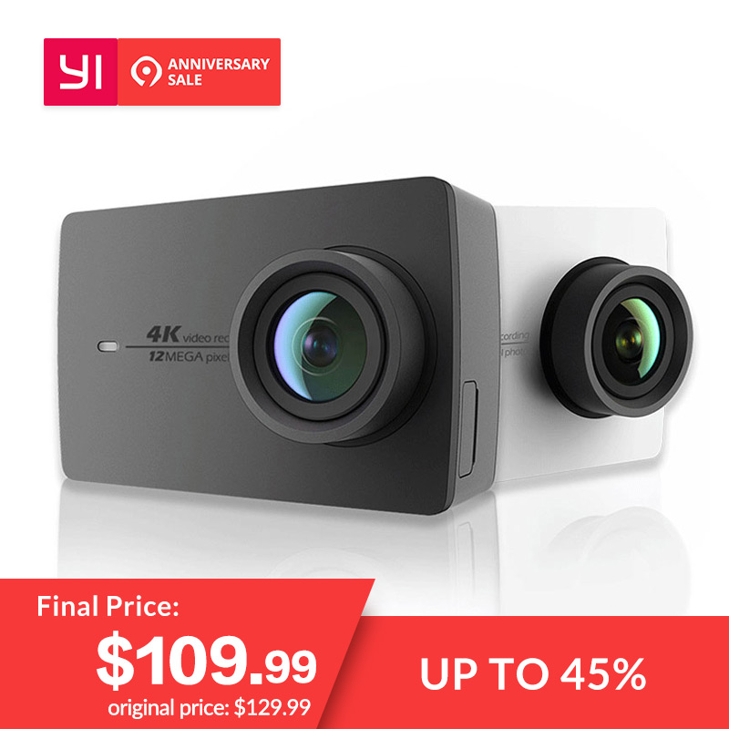 YI 4 K Action Kamera Internationale Ausgabe Ambarella A9SE Cortex-A9 ARM 12MP CMOS 2,19