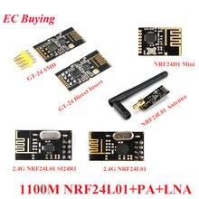 GT-24 2.4G SMD NRF24L01 + PA + LNA Kablosuz Modüller NRF24L01 1100 Metre Uzun Mesafe Kablosuz Wifi Alıcı arduino için